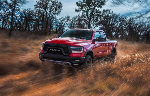 Picture Dodge, pickup, 1500, Ram, 2019, Rebel Quad Cab