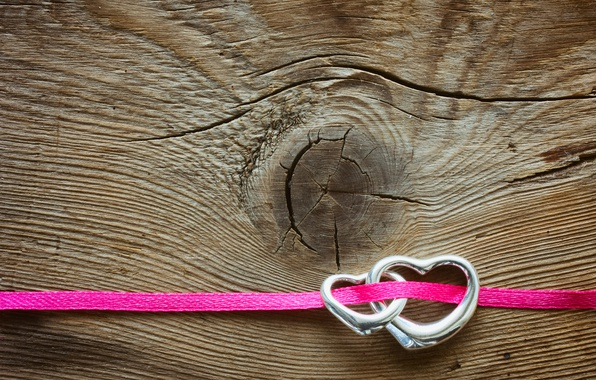 Picture heart, hearts, red, love, wood, romantic, hearts, Valentine's Day