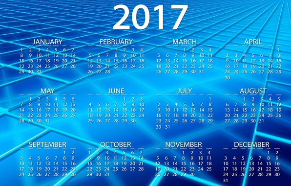 Picture line, blue, abstraction, background, blue, graphics, new year, vector, squares, figures, cells, calendar, year, date, …