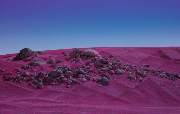 Picture sand, landscape, stones, desert