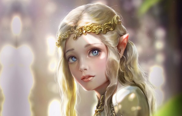 Wallpaper girl, elf, fantasy, art, elf, Princess, Elven ...