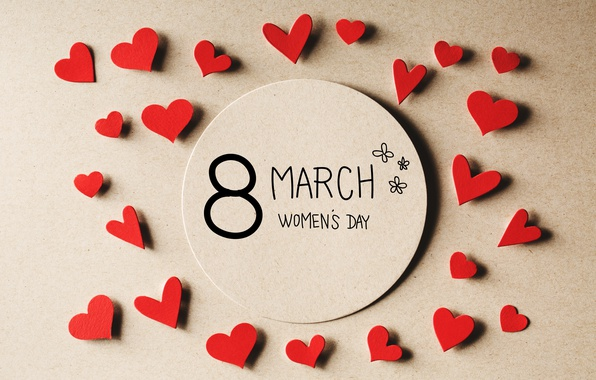 Picture hearts, March 8, hearts, Women's Day