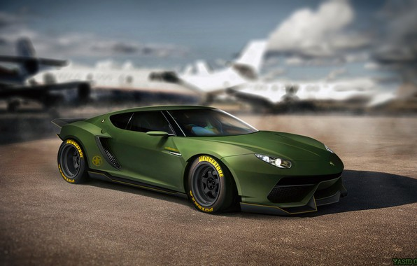 wallpaper auto, figure, lamborghini, machine, art, supercar