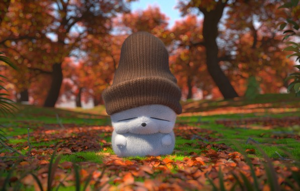 Picture autumn, art, cap, children's, Brush the bowl of the gods CG, Daily practice