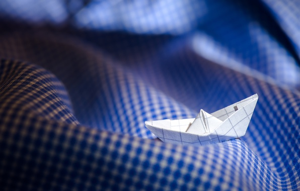 Picture wave, macro, mood, matter, paper boat