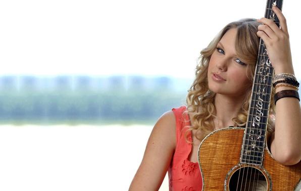 Picture model, guitar, blonde, singer, Taylor Swift, Taylor Alison Swift