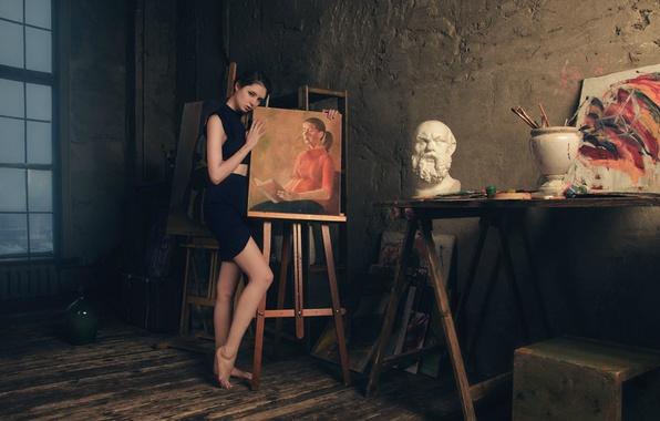 Picture girl, picture, creativity, Diana Shemetova