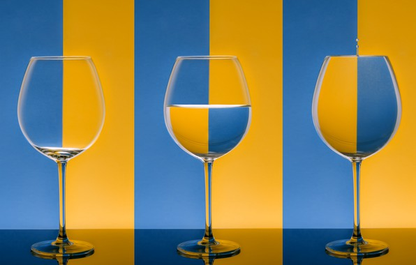 Picture color, blue, strip, yellow, glasses