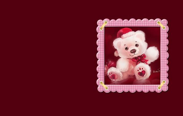 Picture balls, toy, figure, art, bear, New year, children's