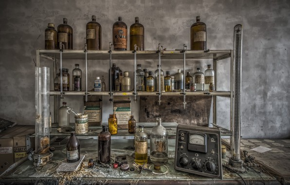 Picture background, laboratory, reagents