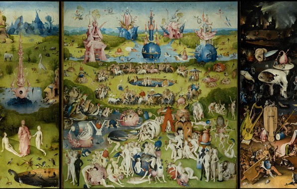 Picture picture, triptych, Hieronymus Bosch, The Garden Of Earthly Delights, Hieronymus Bosch