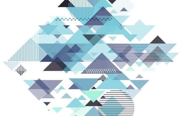 Picture abstraction, blue, geometry, Abstract, design, with, background, triangle, geometric