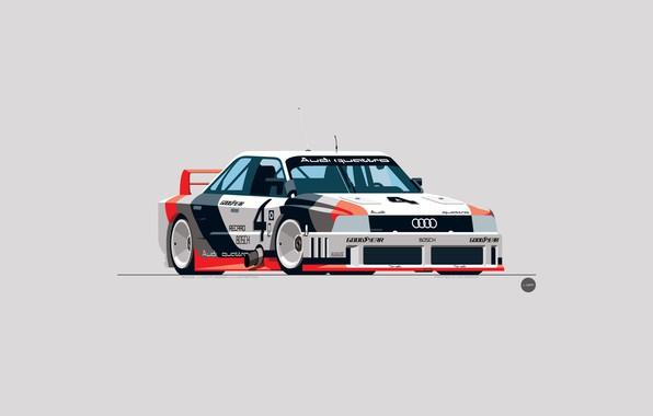 Picture Audi, Auto, Figure, Machine, Art, GTO, Quattro, IMSA, Nik Schulz, 1989 Audi 90Quattro IMSA GTO, …