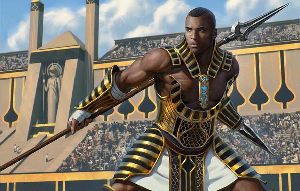 Picture weapons, arena, Gladiator, Magic: the Gathering, Unwavering Initiate/Embalmed, Greg Opalinski