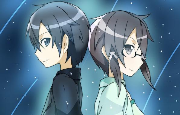 Photo Wallpaper Anime Art Sword Online Kirito Sinon