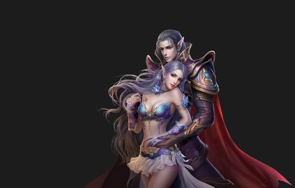 Picture the game, fantasy, art, pair, costume design