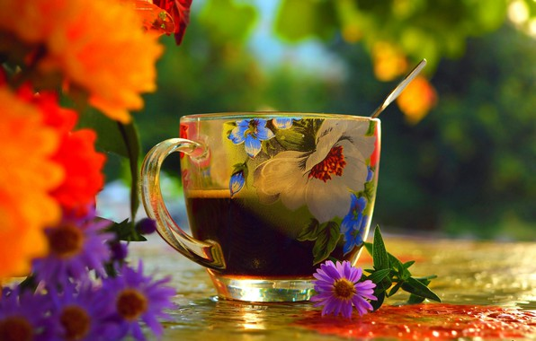 Picture Flowers, Cup, Flowers, Cup