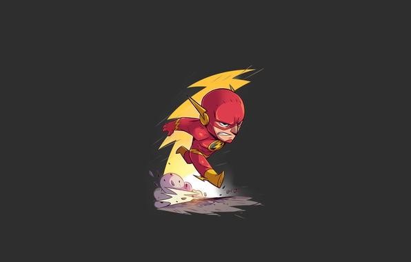 Picture red, logo, yellow, dust, speed, hero, DC Comics, fast, Flash, yuusha, tv series, The Flash, …