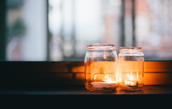 Picture background, candles, banks