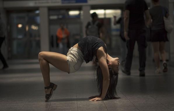 Picture girl, pose, background, gymnastics, yoga