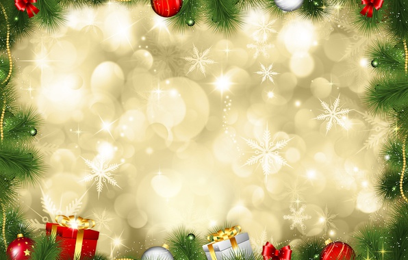 Picture New Year, Christmas, background, merry christmas, decoration, xmas, fir tree