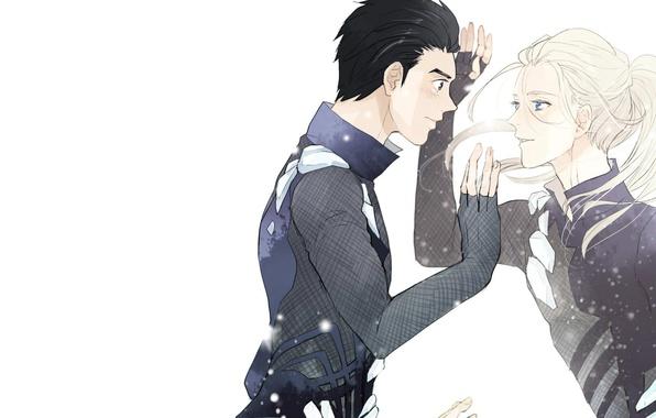 Photo Wallpaper Yuri Katsuki On Ice Art Viktor Nikiforov Anime