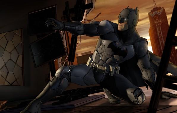 Picture The city, The game, Batman, Costume, Building, Hero, Mask, Cloak, Superhero, Hero, Batman, Game, Bruce …