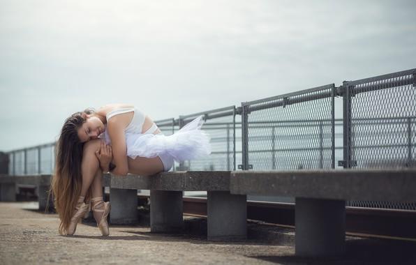 Picture girl, pose, mood, ballerina, long hair