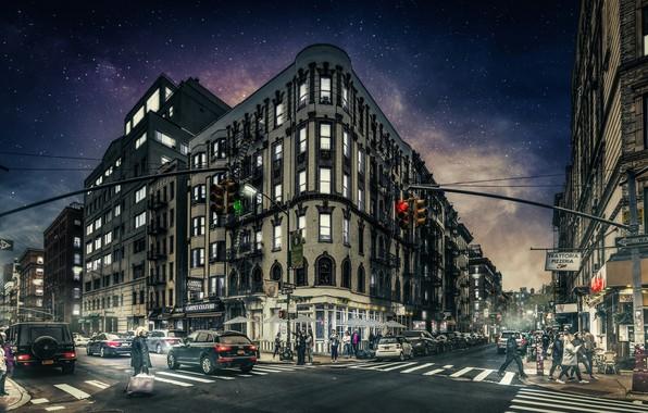 Picture night, New York, Manhattan, Gotham
