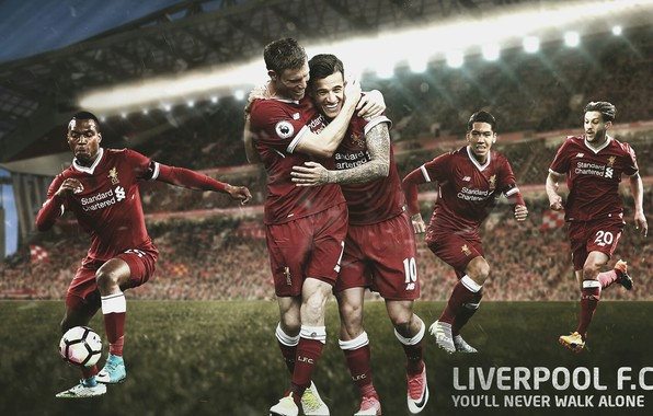 Picture wallpaper, sport, stadium, football, Liverpool FC, Anfield Road, players