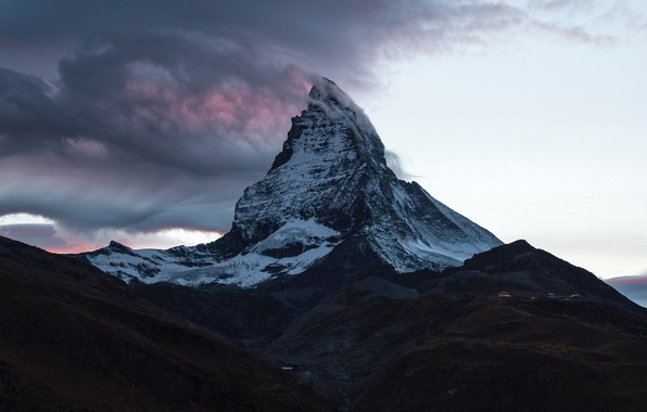 Picture clouds, mountain, Switzerland, top, Switzerland, mountain, Matterhorn, Matterhorn