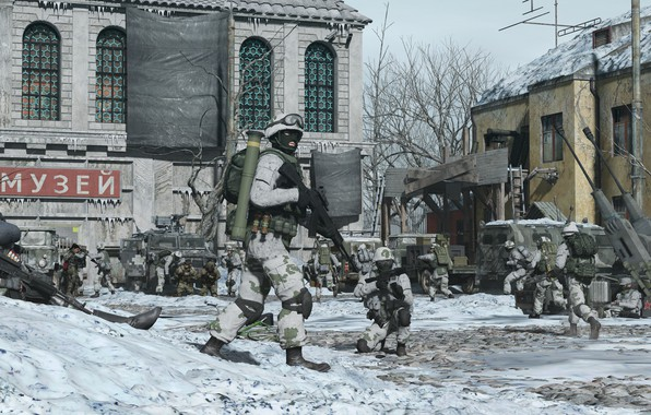 Picture transport, building, Museum, military, Russian Advance