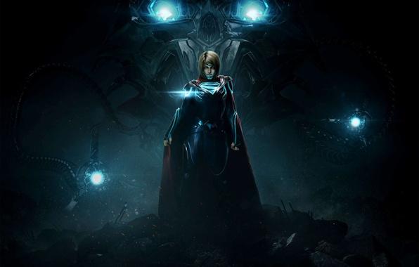 Picture girl, game, hero, DC Comics, Supergirl, strong, Injustice, yuusha, Kara Zor-El, Injustice 2, Linda L. …