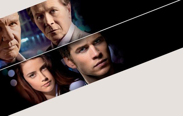 Picture the film, actors, Thriller, poster, Amber Heard, Amber Heard, Harrison Ford, Harrison Ford, Liam Hemsworth, …