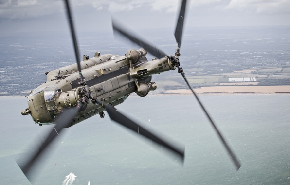 Picture flight, helicopter, transport, military, Chinook, CH-47