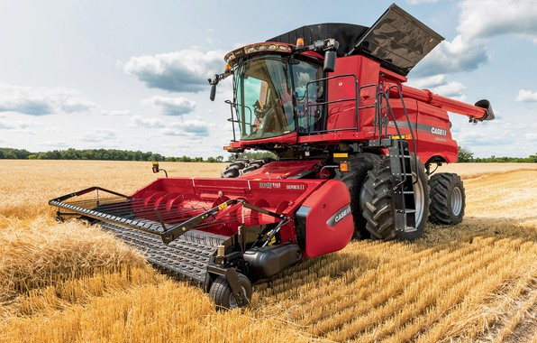 Picture field, technique, hay, tractor, 8240, Case IH, Axial-Flow