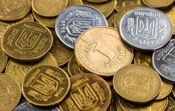 Picture Coins, Money, Ukraine, Currency, The hryvnia, Trident