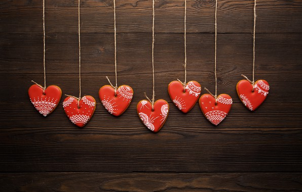 Picture love, romance, hearts, red, love, romantic, hearts, Valentine's Day, cookies