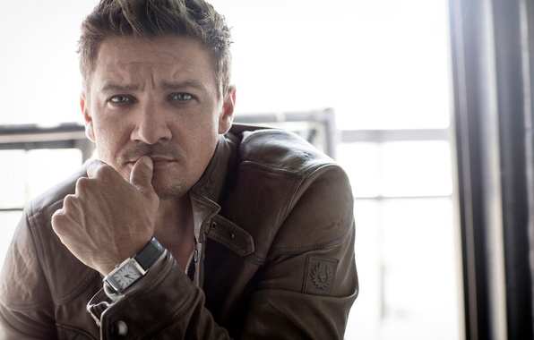 Picture look, pose, watch, hand, portrait, jacket, actor, photoshoot, Jeremy Renner, Jeremy Renner, Sarah Dunn, AugustMan