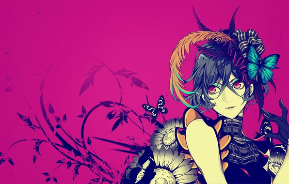 Photo Wallpaper Background Butterfly Anime Art Guy