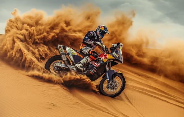 Picture Sand, Sport, Skid, Motorcycle, Racer, Moto, KTM, Bike, Rally, Dakar, Dakar, Rally, Moto, Motorbike, Dune