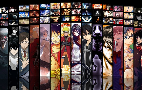 Picture game, Death Note, Naruto, Anime, Fate/Stay Night, One Piece, pirate, alien, crossover, ninja, asian, Angel ...