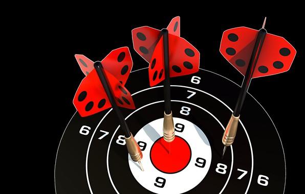 Picture Darts, Darts, target