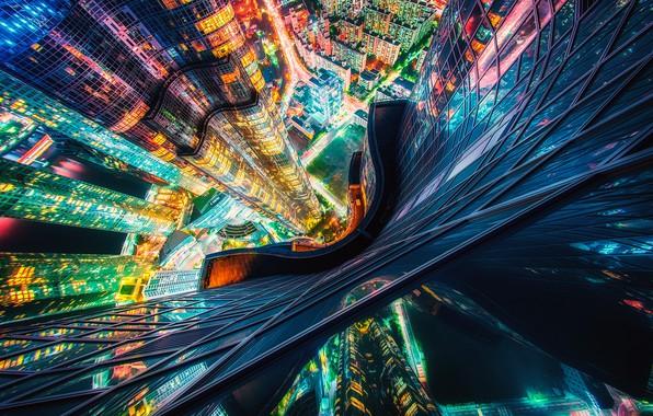 Picture lights, the evening, The Republic Of Korea, Busan, Busan, Busan, Busan Metropolitan city