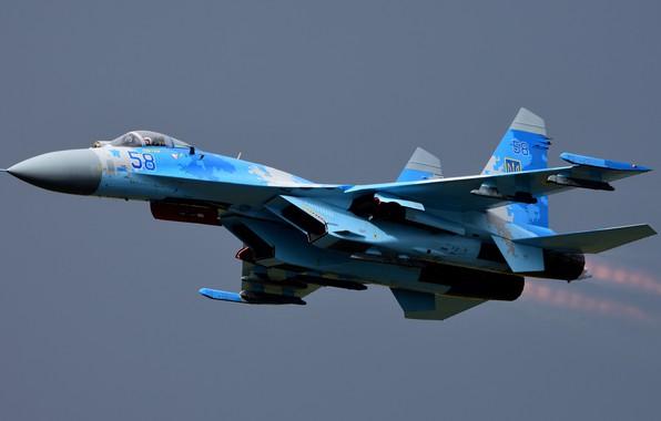 Picture turbine, the rise, Su-27, combat aircraft, Sukhoi SU-27B Flanker