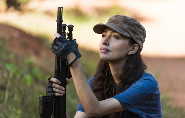 Picture weapons, The Walking Dead, Christian Serratos, Rosita, Season 7