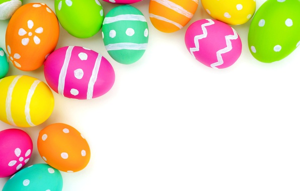 Wallpaper Colorful, Easter, Background, Spring, Eggs