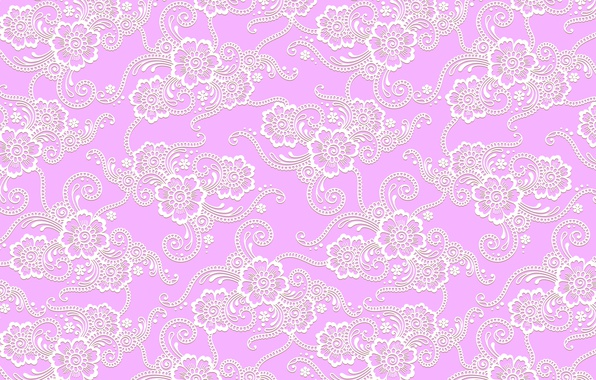 Picture flowers, pink, pattern