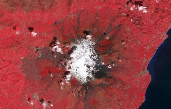 Picture photo, mountain, the volcano, NASA, Etna, Sicily