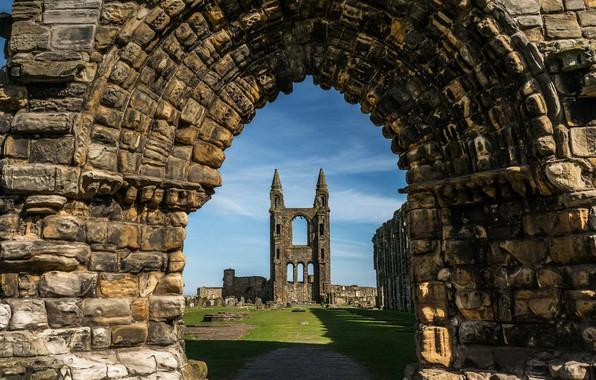 Wallpaper Scotland, Arch, Architecture, St Andrews, St